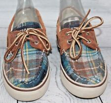 Sperry Topsiders Women's Plaid Shoes Size 6.5