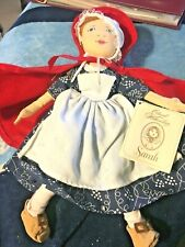 "Colonial Williamsburg Merry Makers 1998 Cloth Doll Sarah With Tags 12"" Souvenir"