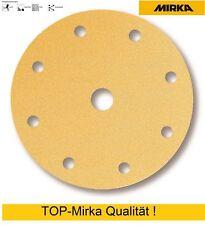 100 Mirka Gold Klettscheiben Schleifscheiben 150 mm 9 fach gelocht Korn 400