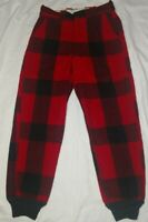 Vintage Men's Wool Hunting Pants Red/Black BUFFALO Plaid