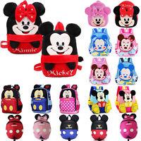 Mickey Minnie Mouse School Bag Backpack Rucksack Kindergarten Boys Girls Baby