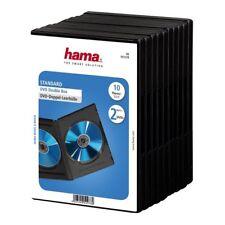 HAMA Custodie DVD DOPPIE Nere 2 posti, confezione da 10 pezzi pack 14mm - H51278