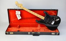1979 Fender Stratocaster with Original Case ~BLACK on BLACK~ 1970s Vintage Strat