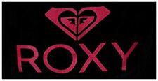Cotton Beach Towels Bright Pink & Black Roxy Logo Beach Towel 40 X 70 Inches