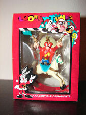 Looney Tunes Collectible Ornaments Yosemite Sam GUNS & ON HORSE 1997 New in BOX