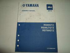 2010 Yamaha RS90GTZ RS90LTGTZ RST90GTZ Snowmobile Assembly Manual FACTORY OEM 10