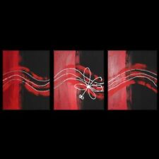 ORIGINAL ABSTRACT RED LARGE ART Lynne Pickering  modern home decor 762010