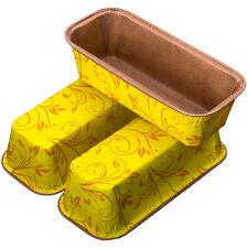 Yellow Large Plumcake Baking Mould x3 Pan Baking Cake Loaf