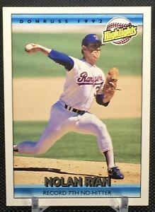 1992 Donruss NOLAN RYAN Highlights Card #154 7th No Hitter Rangers Astros HOF