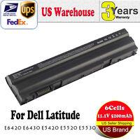 Lot 1-10x 58Wh Battery for Dell Latitude E5420 E6420 E6520 E6530 T54FJ / Adapter