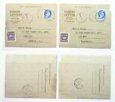 2 Posted Vintage 1956 Canadian Military Forces Letter Postal Stationery