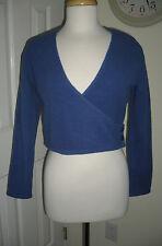 New listing Mondor Womens Blue Wrap Fleece Petite Small Ps Euc