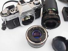 Fotocamera Canon AE-1 con 50mm 1,8 originale + zoom Vivitar 70-210 f4,5 + filtri