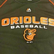 Baltimore Orioles Mens Jersey MLB Baseball Size Large Majestic Black Pullover