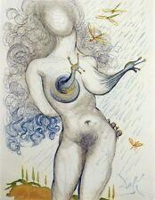 Salvador Dali, Original Engraving from Illustre Casanova suite Nude w/ Snail OBO