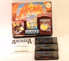 ZX Spectrum 48K 128K ARCADIA 3 in 1 partite da Ocean 1989 (3 Giochi Pack)