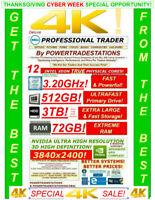 DELL Trading Computer 6M 12Core MaxTurbo3.20GHz 72GBRAM 512GBSSD 3TBHDD! DESKTOP