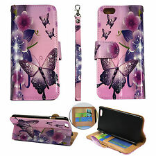Wallet  Pik Flower Butterfly For Iphone 6 4.7 Flip Case Cover Glob Leather
