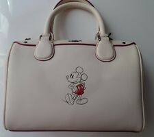 COACH x DISNEY Limited Edition Cream Mickey Mouse Leather Satchel Bag