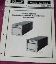 Chessell Models 301/305 Installation, Operation & Maintenance Instructions