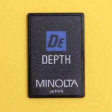 Minolta Depth Card for Dynax / Maxxum 7000i 8000i 5000i 7xi 700si Cameras