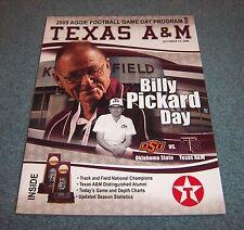 Texas A&M vs Oklahoma State Football Game Program Magazine 2009 Billy Pickard