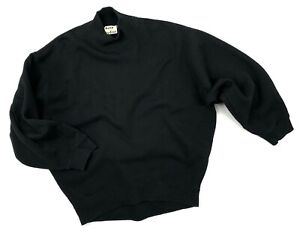 Auth Men's ACNE STUDIOS VIEW FLEECE PAW14 Black Cotton Sweatshirt Sweaters Size