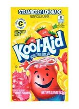 10 Packs Kool-Aid STRAWBERRY LEMONADE Unsweetened Drink Mix Packets