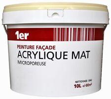 PEINTURE TON PIERRE FACADE ACRYLIQUE MAT MICROPOREUSE 10L bonne adhérence