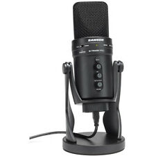 Samson G-Track Pro USB Microphone with Built-In Audio Interface | Black