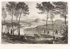 SÄCHSISCHE SCHWEIZ - BASTEI - Phillibrown - Stahlstich 1836/1837
