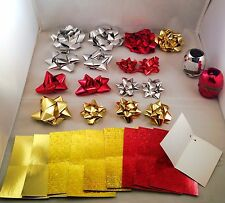 BOW + RIBBON + GIFT TAGS Christening Birthday Anniversary Gift Wraps Decoration