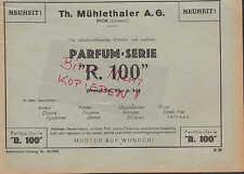 NYON SCHWEIZ, Werbung 1933, Th. Mühlethaler AG Parfum-Serie R. 100 Lotion