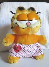 """vintage  garfield """"red hot lover"""" plush stuffed animal..with tags"""