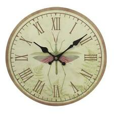 Midwest-CBK Dragonfly Bug Wall Clock Roman Numerals Bugs mw692899 Pastels