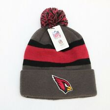 New Arizona Cardinals Embroidered Knit Beanie Winter Hat With Pom One Size NFL