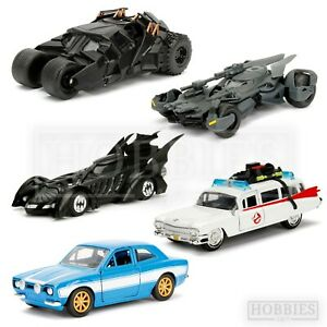Movie Diecast Model Cars 1/32 Collectable Batman Batmobile Ecto 1 Ghostbusters