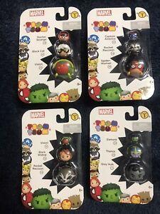 New Marvel Tsum Tsum 3 pack Series 1 Lot of 4