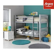 Argos Home Kids Heavy Duty Bunk Bed with 2 Mattresses - Grey