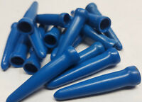 "20 pack of Blue automotive carburetor vacuum caps or fitting plugs 1-5/8"" long"