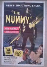 THE MUMMY - HAMMER - ORIGINAL USA 1 SHEET 1959-  27 X 41 INCHES,STAINS ON POSTER