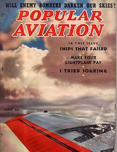 1938 Popular Aviation June - Hall PH-2; French Potez;Planes that failed the test