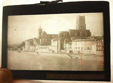 Plate Photo Pont-Saint-Esprit the Site Naval Church Saint Saturnin to the 1920