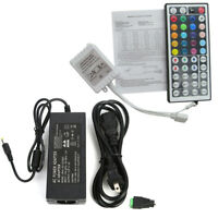 44 key IR Remote Controller + 12V 5A Power Supply for 5050 RGB LED Strip Light