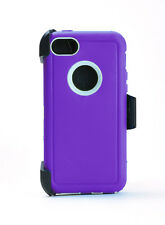 For iPhone 5c Rugged Case Cover w/Holster Belt Clip Fits Otterbox Defender NEW