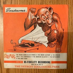 1959 Detroit Zoological Park Soundsouvenir  High Fidelity Recording Vinyl 33 LP