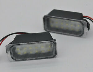 2 LED Licence Number Plate Light For Ford Tourneo Transit Connect Courier Custom
