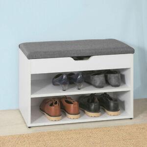 SoBuy® Banc de Rangement à Chaussures avec Coussin Rembourrée FSR25-HG,FR