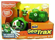 FISHER PRICE GEOTRAX GREEN LANTERN ENGINE GEO TRACKS REMOTE CONTROL TRAIN TOY