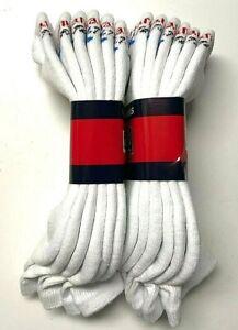 3 / 6/12 Pair Men HANES X-TEMP White Cotton Stretch Athletic Ankle Sock SZ 10-13